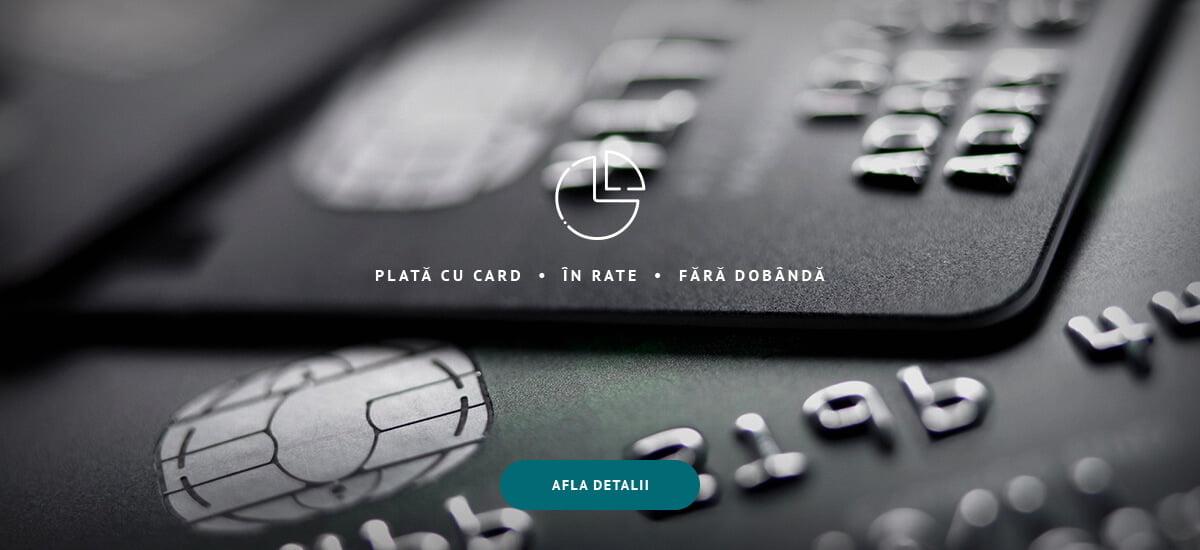 Plata cu card - In rate fara dobanda