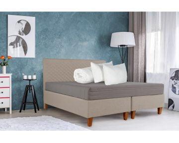 Set Bedora Dormitor Starter Bej 160×200 cm