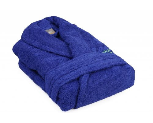 Halat de Baie Beverly Hills Polo Club Dark Blue, unisex, 100% bumbac, XS/S, albastru