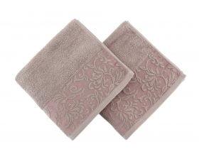 Set Prosoape De Maini Soft Kiss Burumcuk Brown, 100% bumbac, 2 bucati, maro, 50x90 cm