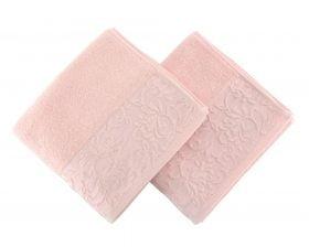 Set Prosoape De Maini Soft Kiss Burumcuk Pink, 100% bumbac, 2 bucati, roz, 50x90 cm