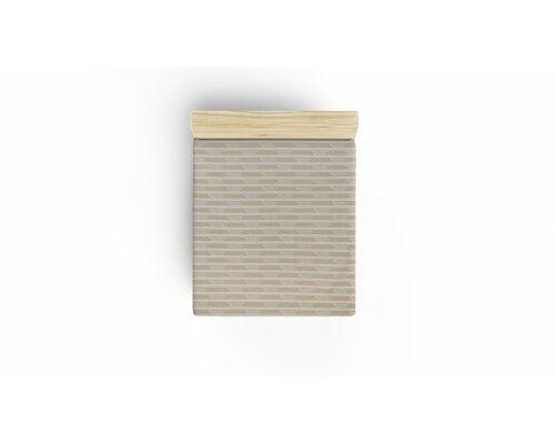 Cearceaf De Pat Beverly Hills Polo Club Cream White, 100% bumbac ranforce, pentru 2 persoane, crem, alb, 240x260 cm