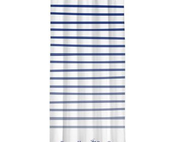 Draperie Beverly Hills Polo Club White Blue, 100% poliester, alb, albastru, 140×260 cm