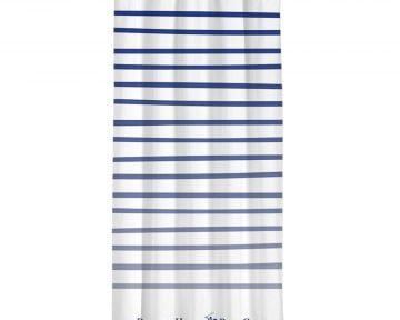 Draperie Beverly Hills Polo Club White Blue, 100% poliester, alb, albastru, 140x260 cm