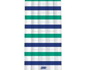 Draperie Beverly Hills Polo Club White Blue Green, 100% poliester, alb, albastru, verde, 140x260 cm