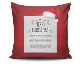 Perna Decorativa Christmas Noel, 50% bumbac, 50% poliester, multicolor, 43x43 cm