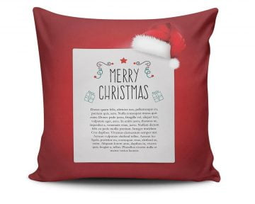 Perna Decorativa Christmas Noel, 50% bumbac, 50% poliester, multicolor, 43×43 cm