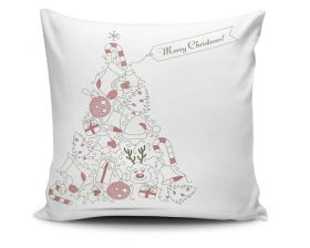 Perna Decorativa Christmas Tree, 50% bumbac, 50% poliester, multicolor, 43x43 cm