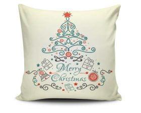 Perna Decorativa Christmas Design, 50% bumbac, 50% poliester, multicolor, 43x43 cm