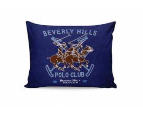 Set Fete de Perna Beverly Hills Polo Club Blue, 100% bumbac, 2 bucati, albastru, 50x70 cm
