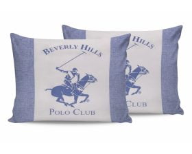 Set Fete de Perna Beverly Hills Polo Club Light Bleu, 100% bumbac, 2 bucati, albastru, alb, 50x70 cm