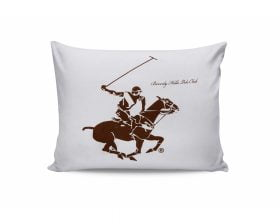 Set Fete de Perna Beverly Hills Polo Club Brown White, 100% bumbac, 2 bucati, maro, alb, 50x70 cm