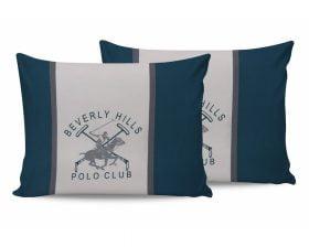 Set Fete de Perna Beverly Hills Polo Club Green, 100% bumbac, 2 bucati, alb, verde, gri, 50x70 cm