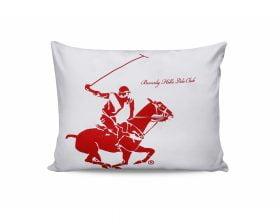 Set Fete de Perna Beverly Hills Polo Club Red, 100% bumbac, 2 bucati, alb, rosu, 50x70 cm