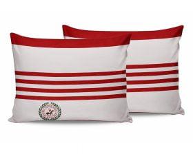 Set Fete de Perna Beverly Hills Polo Club Red White, 100% bumbac, 2 bucati, rosu, alb, 50x70 cm
