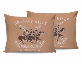 Set Fete de Perna Beverly Hills Polo Club Somon, 100% bumbac, 2 bucati, portocaliu, alb, maro, 50x70 cm