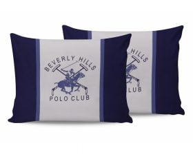Set Fete de Perna Beverly Hills Polo Club Bleu White, 100% bumbac, 2 bucati, albastru, alb, 50x70 cm