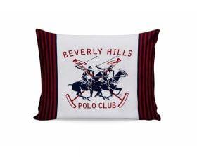 Set Fete de Perna Beverly Hills Polo Club Bleumarin White Red, 100% bumbac, 2 bucati, albastru, alb, rosu, 50x70 cm