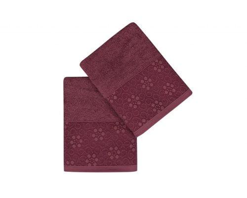Set Prosoape De Maini Soft Kiss Dots Red, 100% bumbac, 2 bucati, rosu, 50x90 cm