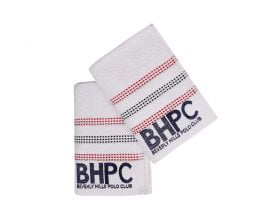 Set Prosoape De Maini Beverly Hills Polo Club White, 100% bumbac, 2 bucati, alb, 50x90 cm