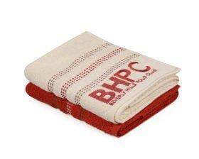Set Prosoape De Maini Beverly Hills Polo Club Brick Cream, 100% bumbac, 2 bucati, portocaliu, crem, 50x90 cm