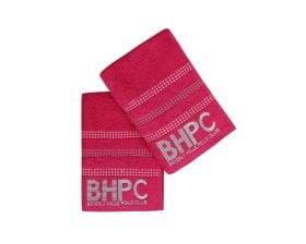 Set Prosoape De Maini Beverly Hills Polo Club Fucsia, 100% bumbac, 2 bucati, roz, 50x90 cm