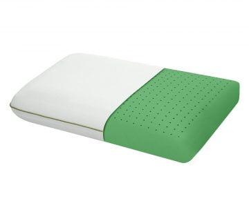 Perna Green Future Memory Minty, memory foam, moale, menta, husa lavabila, 40×60 cm