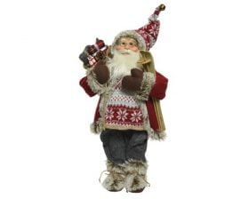 Decoratiune Decoris Santa, 100% poliester, multicolor