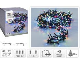 Instalatie de Craciun Excellent Houseware, 1200 LED-uri, 2400 cm, multicolor