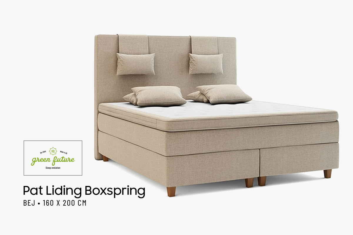 Pat Dormitor Matrimonial Green Future Liding Boxspring Bej