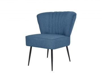 Scaun Cocktail, albastru, material textil