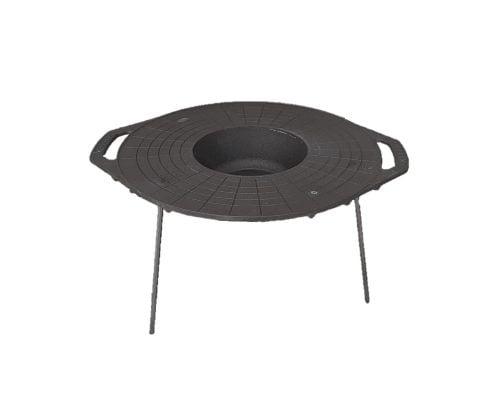 Disc pentru gratar Barbeque Mixt 51 cm, adanc, fara maner, fonta, negru