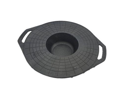 Disc pentru gratar Barbeque Mixt 51 cm, adanc, fara maner, fonta, negru 2