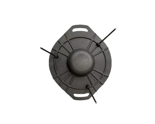 Disc pentru gratar Barbeque Mixt 51 cm, adanc, fara maner, fonta, negru 3