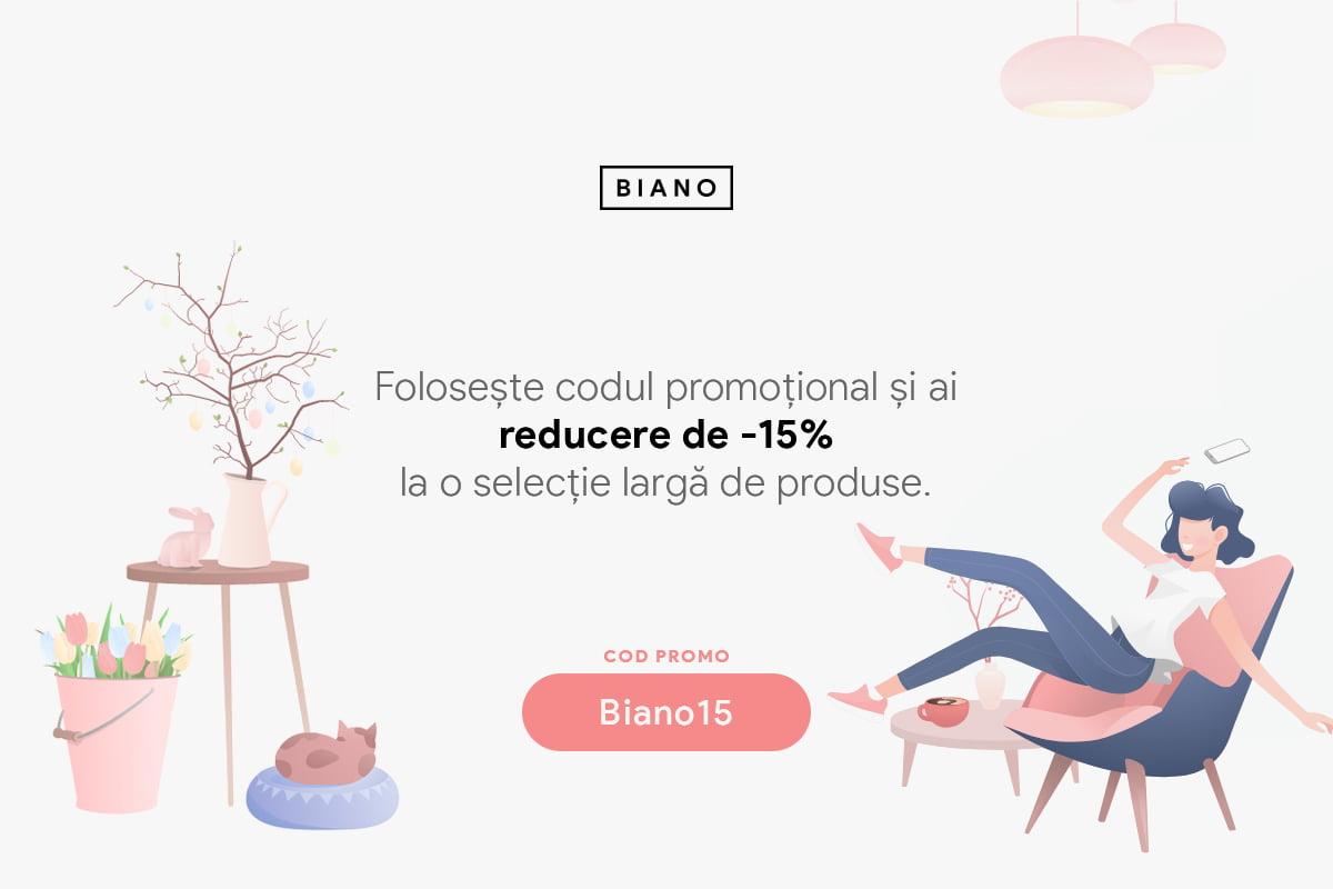 Reducere de -15% - Biano15