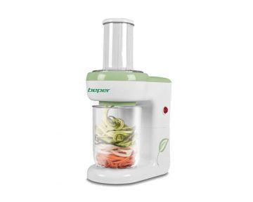Spiralizator legume electric Beper 80W, capacitate de colectare 1L