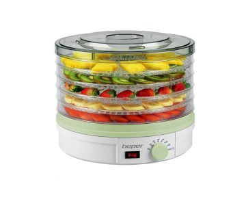 Deshidrator de fructe automat Beper 245 W, temperatura reglabila intre 35-70°C